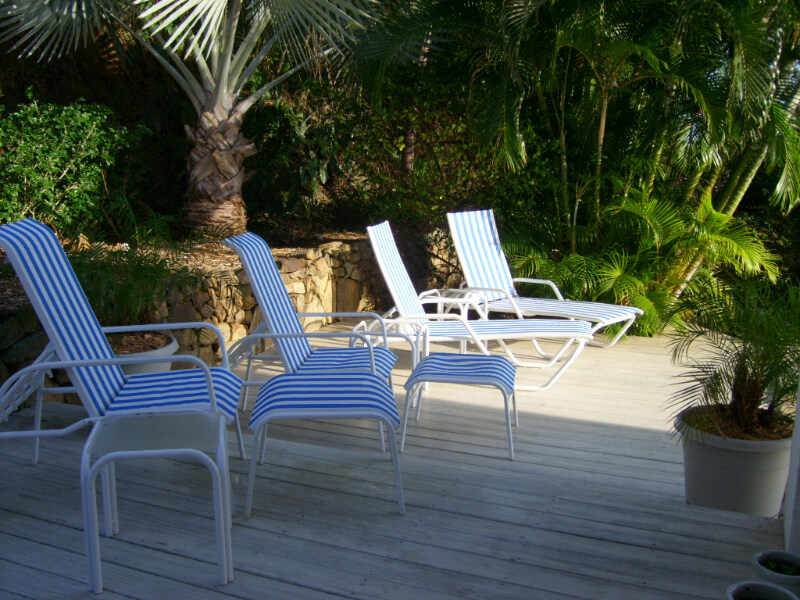 Deck Offers Sun and Shade